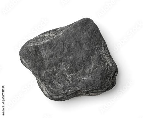 Cuadros en Lienzo Top view of flat grey stone