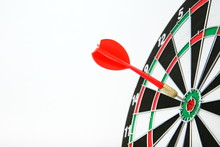 Darts On White Background With Copy Space