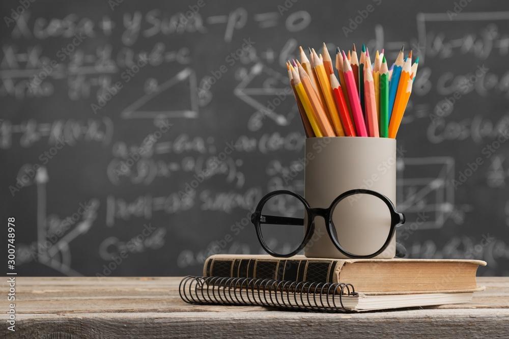 Fototapety, obrazy: Day international school teachers blackboard books brazil