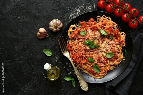Traditional italian spaghetti bolognese Canvas Print