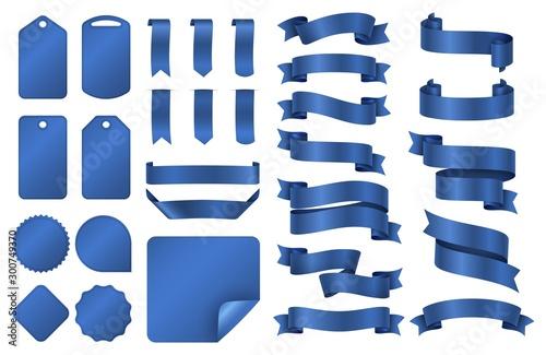 Fotografie, Obraz Blue ribbons