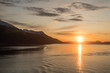 canvas print picture - Sonnenuntergang Norwegen Fjord