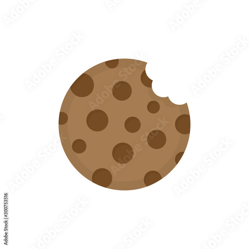Cookie round icon vector illustration Canvas Print