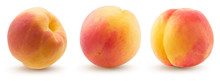 Collection Of Peaches Isolated...