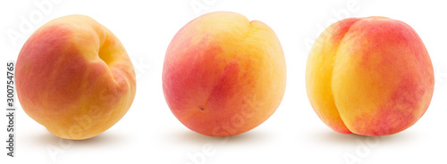 collection of peaches isolated on a white background #300754765