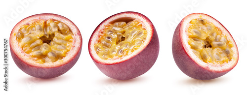 collection of passion fruit isolated on a white background #300754767