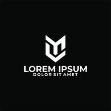 Initial Letter MC Or CM Logo Template With Modern Fox Head Line Art Illustration In Flat Design Monogram Symbol