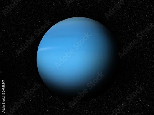 Fotografie, Obraz Uran in space 3D