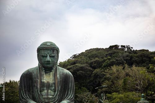 Fotobehang Historisch mon. Great Buddha of Kamakura, Japan