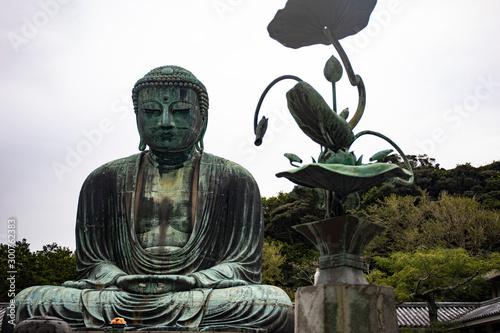 Deurstickers Historisch mon. Great Buddha of Kamakura, Japan