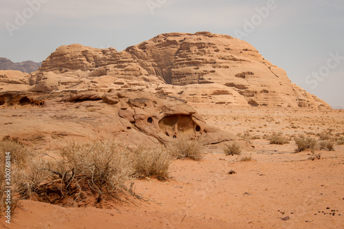 Walking and hiking tours in the Wadi Rum desert, Jordan