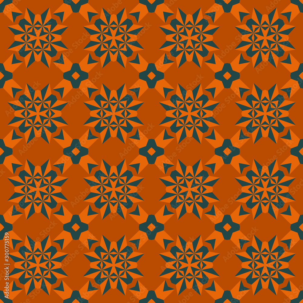 Geo seamless pattern, geometrical ornament, seamless fabric print, colorful geometric background, vintage seamless background
