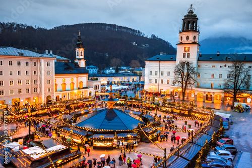 Salzburg, Austria - Christkindlmarkt, Christmas Market Tapéta, Fotótapéta