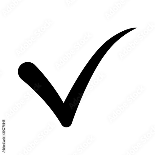 Fototapeta Approval check icon from iot set. Iso,etric flat seo design. Digital web objects for app, business, social media, blank template. Quality sign, check mark, correct tick symbol obraz na płótnie