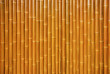 canvas print picture - Wall made of natural bamboo stems