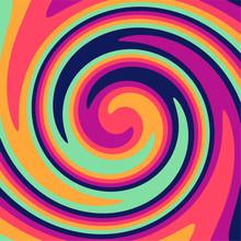 Twirl Twist Paint 70s Retro Colors Abstract Fluid Backgrounds  Swirl Vortex Vector Background