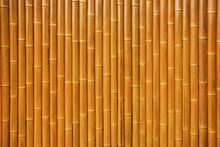 Wall Made Of Natural Bamboo St...