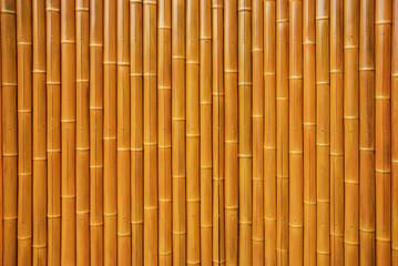 Wall made of natural bamboo stems