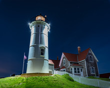 Lighthouse During Full Moon