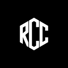 RCC Letter Logo Design Polygon...