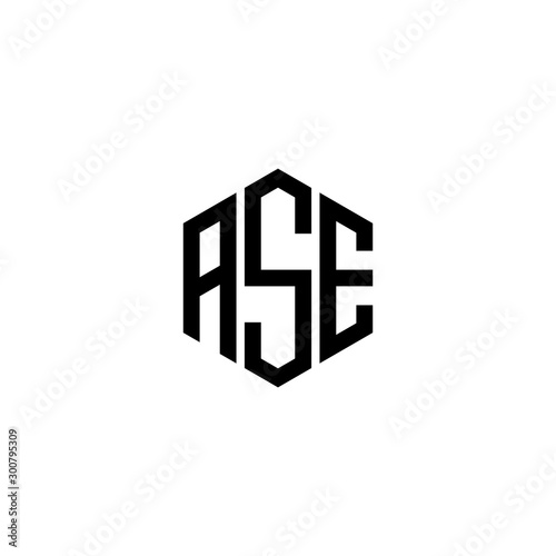 Photo ASE Letter Logo Design polygon Monogram Icon Vector Template