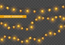 Christmas Lights. Design Eleme...