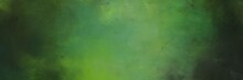 Abstract Painting Background Texture With Dark Olive Green, Moderate Green And Very Dark Green Colors And Space For Text Or Image. Can Be Used As Header Or Banner