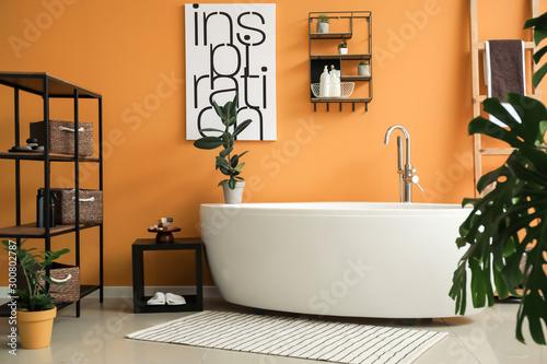 Interior of modern comfortable bathroom Poster Mural XXL