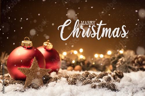 Weihnachten - Merry Christmas - Hintergrund Canvas Print