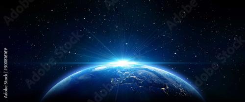 Obraz planet in space - fototapety do salonu