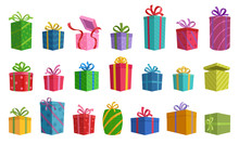 Gift Box Vector Cartoon Set Ic...