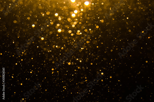 Fototapety, obrazy: Abstract gold bokeh