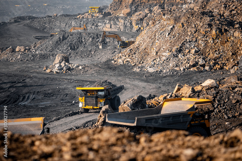 Open pit mine industry Canvas Print
