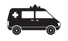 Trendy Solid Ambulance Icon Si...
