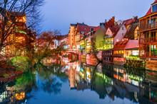 Nuremberg And Pegnitz River Ol...