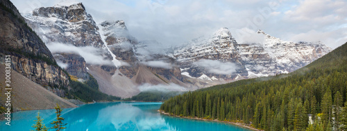 Canvas Prints Blue sky Moraine lake