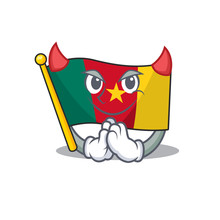 Flag Cameroon Mascot Isolated ...
