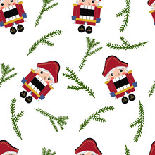 Seamless Nutcracker Pattern. T...