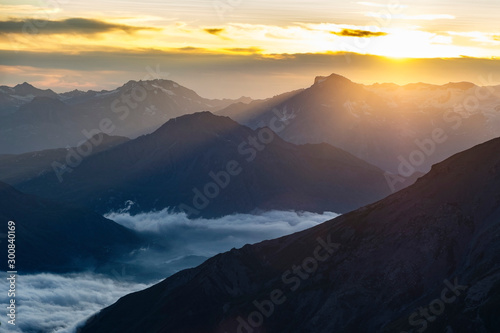 Obraz The panorama from the top of Rocciamelone (3538m) in the Italian Alps is breathtaking - fototapety do salonu