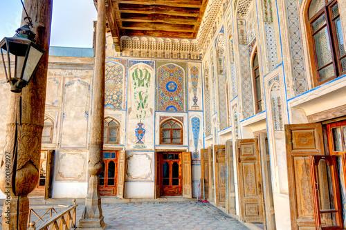 Staande foto Oude gebouw Bukhara, Uzbekistan : Khodzhaev House