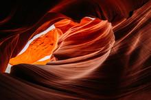 Beeindruckende Sandstein Formationen Im Lower Antelope Canyon In Page/arizona USA