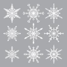Snowflakes Vector Set. Snowfla...
