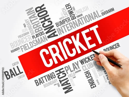 Fototapeta  Cricket word cloud collage