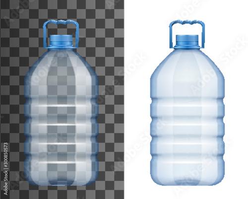 Obraz na płótnie Empty plastic water bottle mockup isolated icon