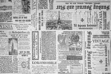 KHARKIV, UKRAINE - September 21st, 2019: Monochrome Background, Old Newspaper Style