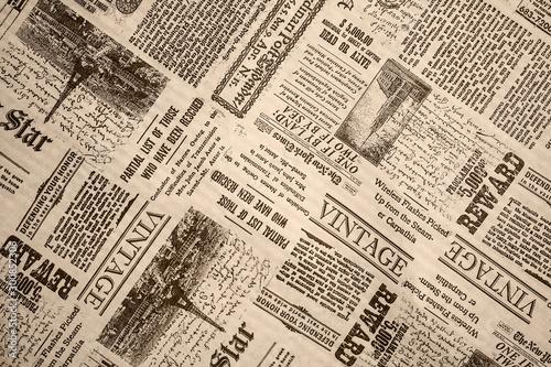 Deurstickers Retro KHARKIV, UKRAINE - September 21st, 2019: Monochrome background, old newspaper style