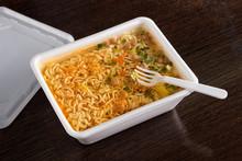 Brewed Instant Noodles In Plas...