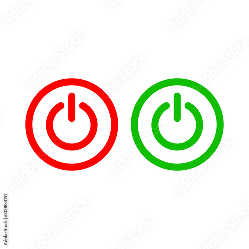 Fényképezés  On Off Power Button Symbol Icon Vector Design Illustration EPS 10