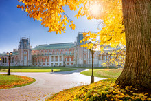 Grand Palace In Tsaritsyno In The Fall