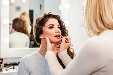 Make Up Artist Applying Profes...